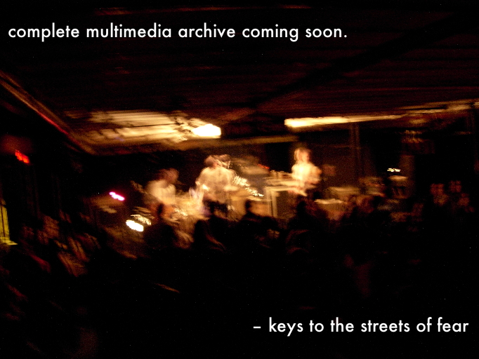 complete multimedia archive coming soon. - kttsof